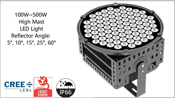 500W high mast led light